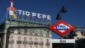 Tio Pepe sign - Puerta del Sol Madrid