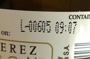 Bottling code La Gitana