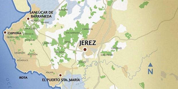 Sherry region map