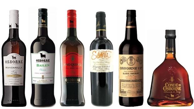 Osborne sherry range