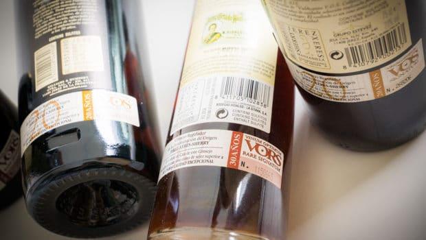 Background: Age statements: VOS / VORS sherry