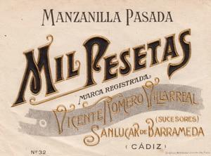 Manzanilla Mil Pesetas - Romero Villareeal