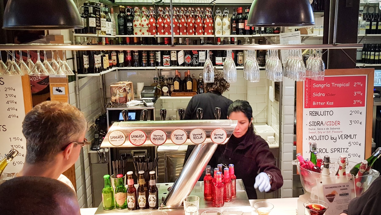 La hora del Vermut - The Sherry Corner (Mercado San Miguel, Madrid)