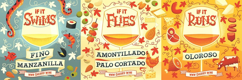 Fino / Manzanilla / Amontillado / Palo Cortado / Pedro Ximenez pairing