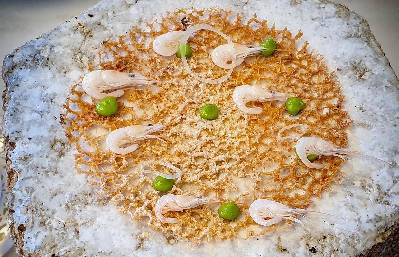 Tortillita de camarones - Aponiente restaurant