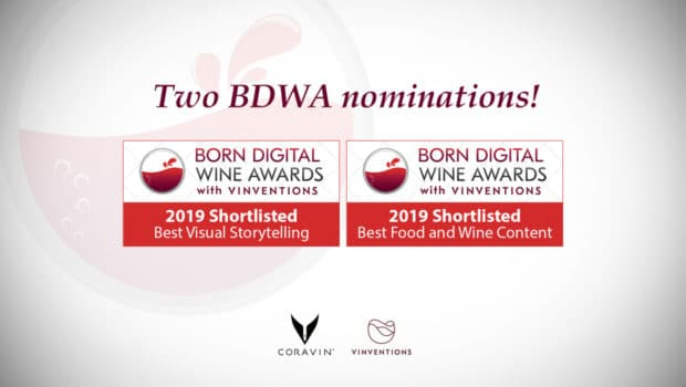 News: Born Digital Wine Awards 2019: two nominations