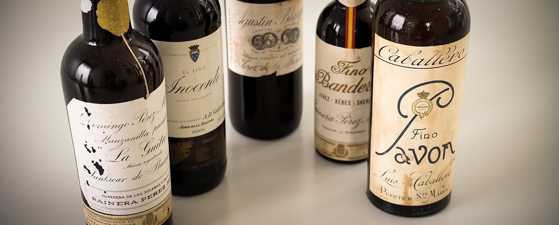 Old bottles sherry: Inocente, Pavon, Bandera