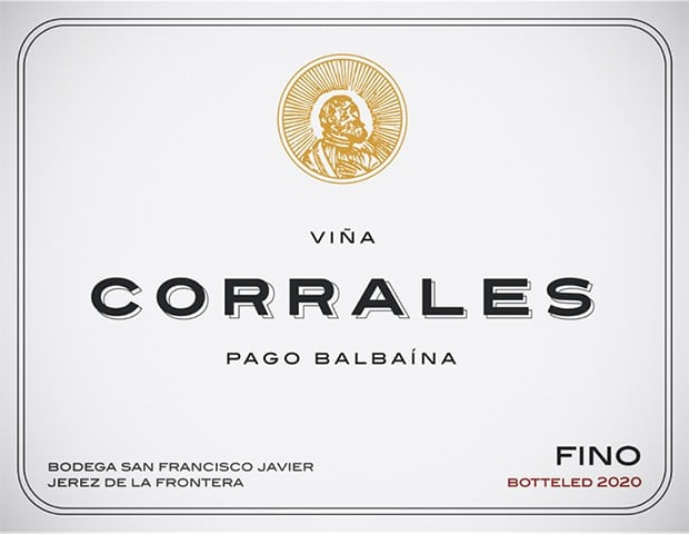 Fino sherry Viña Corrales (label)