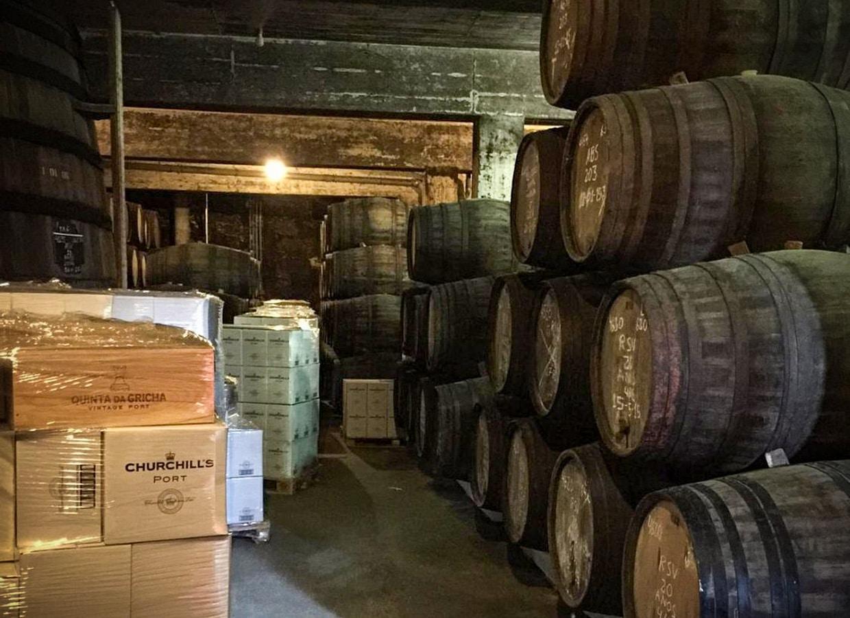 Churchill's Port cellar