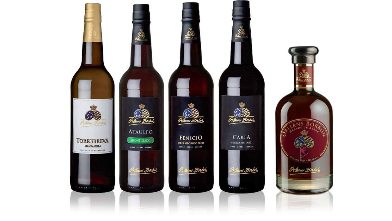 Orleans Borbon sherry - Torrebreva, Ataulfo, Fenicio, Carla
